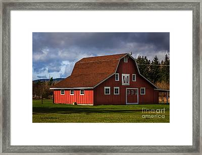 Red Kirsop Barn Framed Print