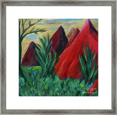 Red Kisses Framed Print