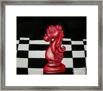 Red Knight Framed Print
