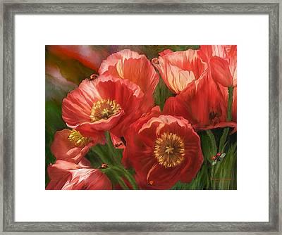 Red Ladies Of Summer Framed Print by Carol Cavalaris