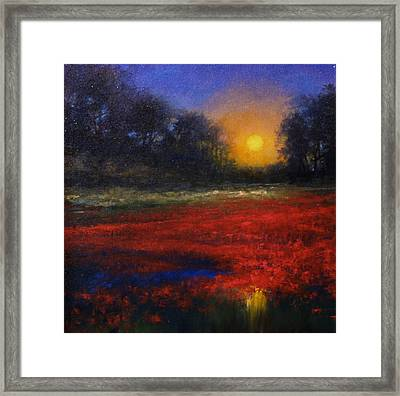 Red Lagoon Framed Print