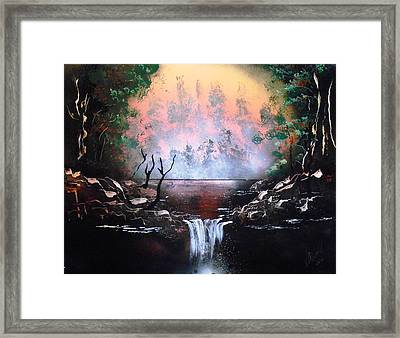 Red Lake Framed Print by Aaron Beeston