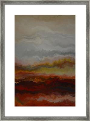 Red Landscape  Framed Print by Andrada Anghel
