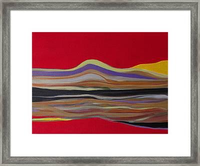 Red Landscape Framed Print by Fatima Neumann