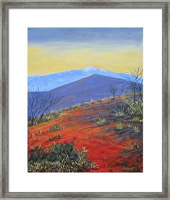 Red Landscape Framed Print by Gene Foust