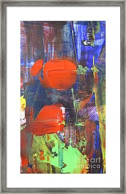 Red Lantern Green Light Framed Print by Omar Hafidi