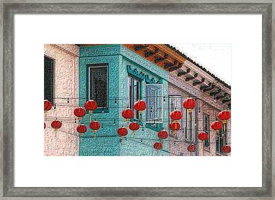 Red Lanterns Framed Print