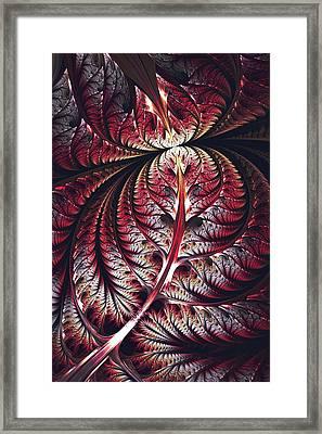 Red Leaf Framed Print by Anastasiya Malakhova