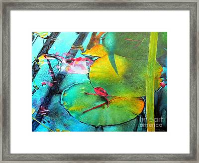 Red Leaf Framed Print by Robert Hooper