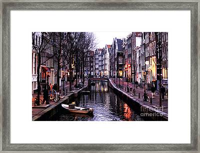 Red Light District Framed Print by John Rizzuto