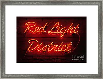 Red Light District Framed Print
