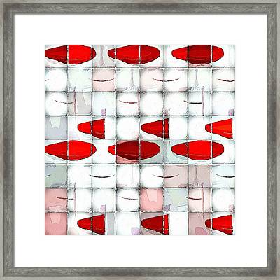 Red Light Glasses Framed Print by Florian Rodarte