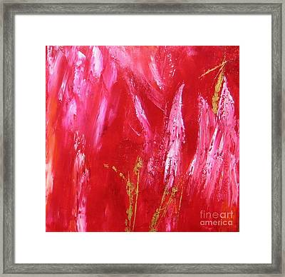 Framed Print featuring the painting Red Light by Susanne Baumann