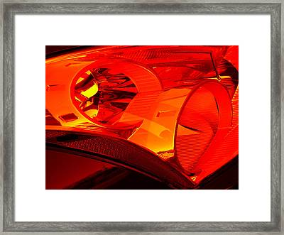 Red Light Framed Print by Wendy J St Christopher