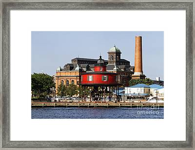 Red Lighthouse Of Baltimore Framed Print by George Oze