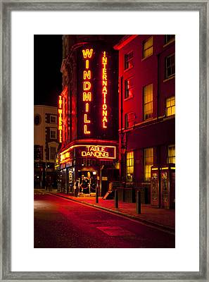 Red Lights Of London Framed Print by Mark E Tisdale