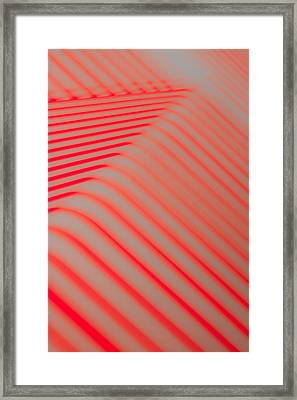 Red Lines Framed Print