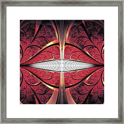 Red Lips Framed Print by Anastasiya Malakhova