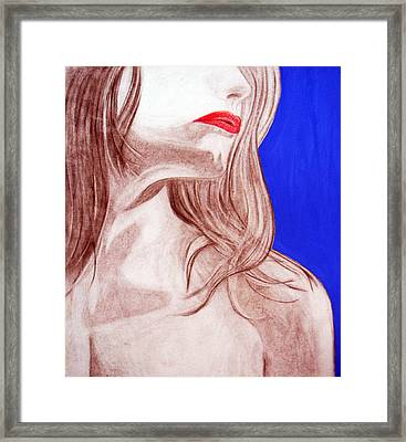 Red Lips Framed Print