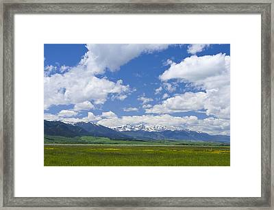 Red Lodge Spring Scene 1 Framed Print
