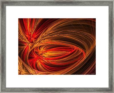 Red Luminescence-fractal Art Framed Print