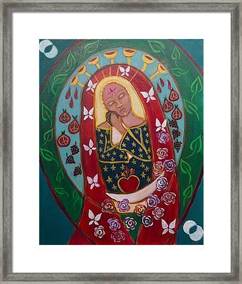 Red Madonna Framed Print by Havi Mandell