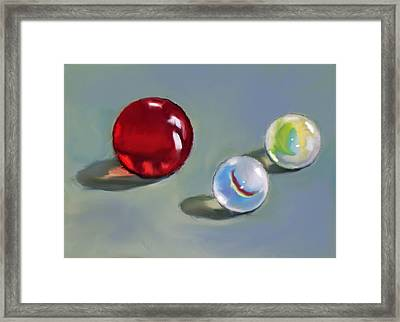 Red Marble And Friends Framed Print by Joyce Geleynse