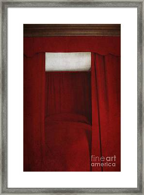 Red Framed Print by Margie Hurwich