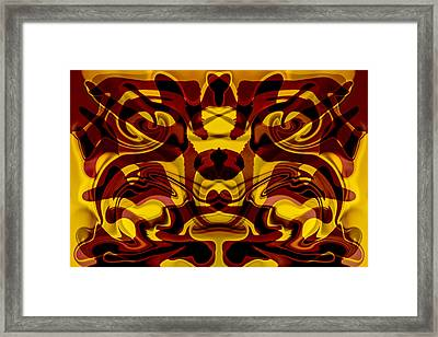 Red Mask Framed Print by Omaste Witkowski