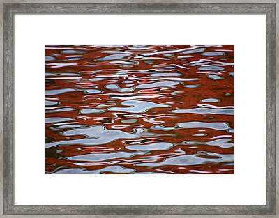 Red Meditation Framed Print by Heather  Rivet