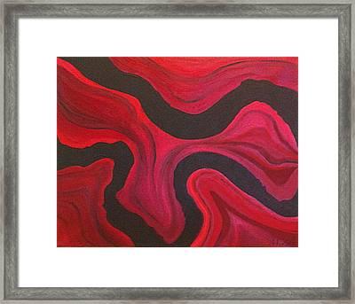 Red Framed Print by Megan Washington