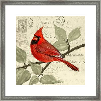 Red Melody Framed Print by Lourry Legarde