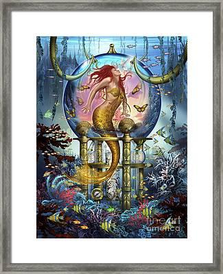 Red Mermaid Framed Print by Ciro Marchetti