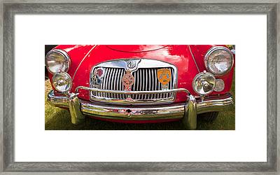 Red Mg Sports Car Canada Framed Print by Mick Flynn