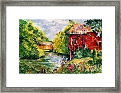 Red Mill At Waupaca Framed Print by Marilyn Smith