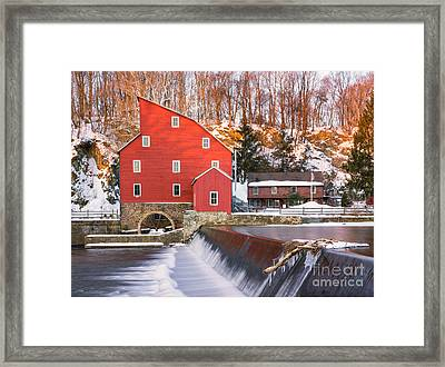 Red Mill Clinton New Jersey Framed Print by Jerry Fornarotto