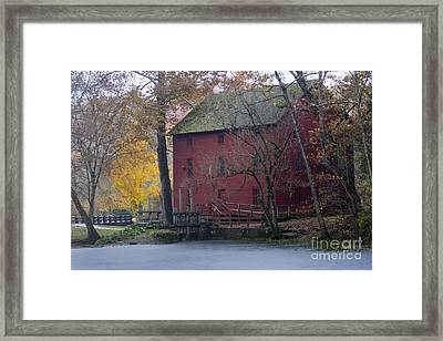 Red Mill Framed Print