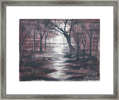 Red Mist  Framed Print