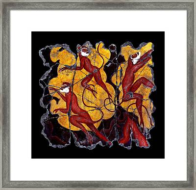 Red Monkeys No. 3 Framed Print