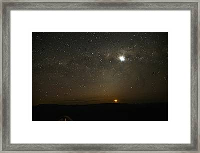 Red Moon Framed Print by Damian Morphou
