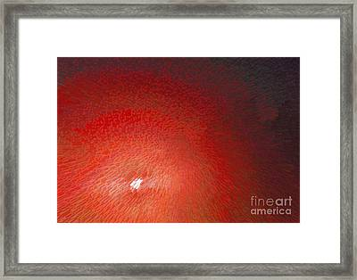 Red Moon Rising Framed Print by Alys Caviness-Gober