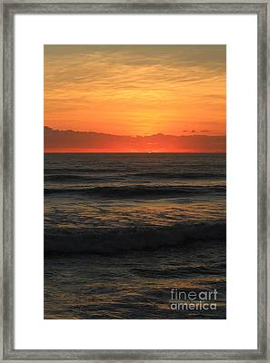 Red Morning Framed Print by Deborah Benoit