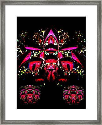 Red Mosaic Framed Print by Aliceann Carlton