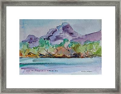 Red Mountain In Spring Framed Print by Karen McLain