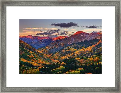 Red Mountain Pass Sunset Framed Print by Darren  White