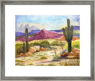 Red Mountain Ranch Framed Print by Marilyn Smith