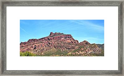 Framed Print featuring the photograph Red Mountain by Ruth Jolly