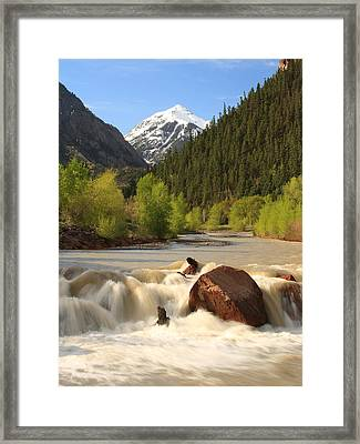 Framed Print featuring the photograph Red Mountain Snowmelt by Scott Rackers