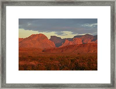 Red Mountains Framed Print by Paul Van Baardwijk
