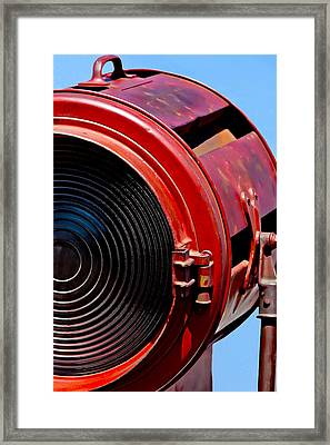 Red Movie Light Framed Print by Art Block Collections